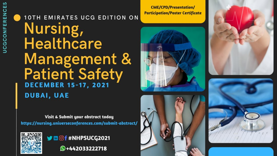10th Emirates UCG edition on Nursing, Healthcare Management and Patient Safety