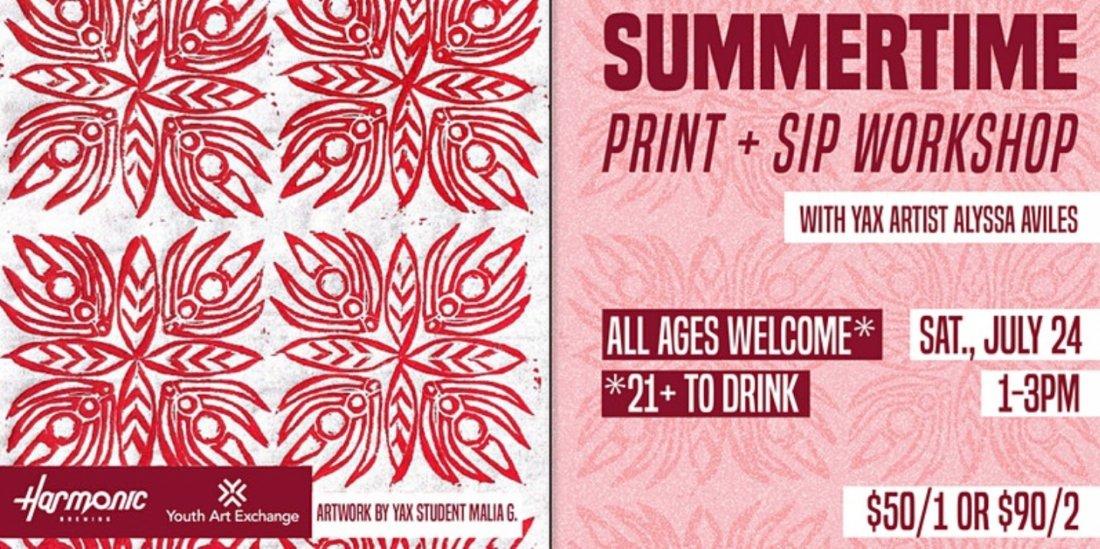 Summertime Print & Sip Workshop