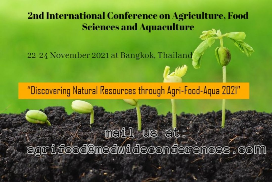 2nd International Conference on Agriculture, Food Sciences and Aquaculture