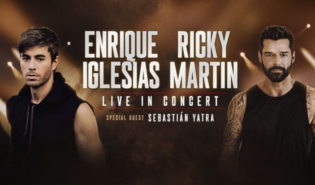 Enrique Iglesias with Ricky Martin