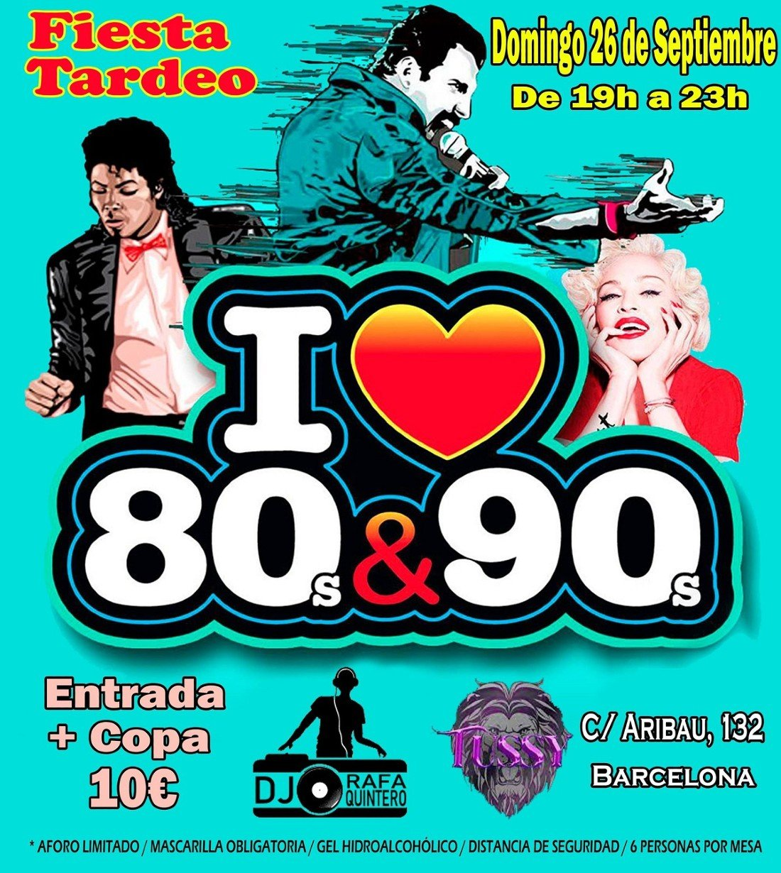 Fiesta Tardeo I Love 80s&90s