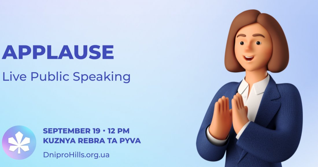 Applause ! English public speaking (in-person)
