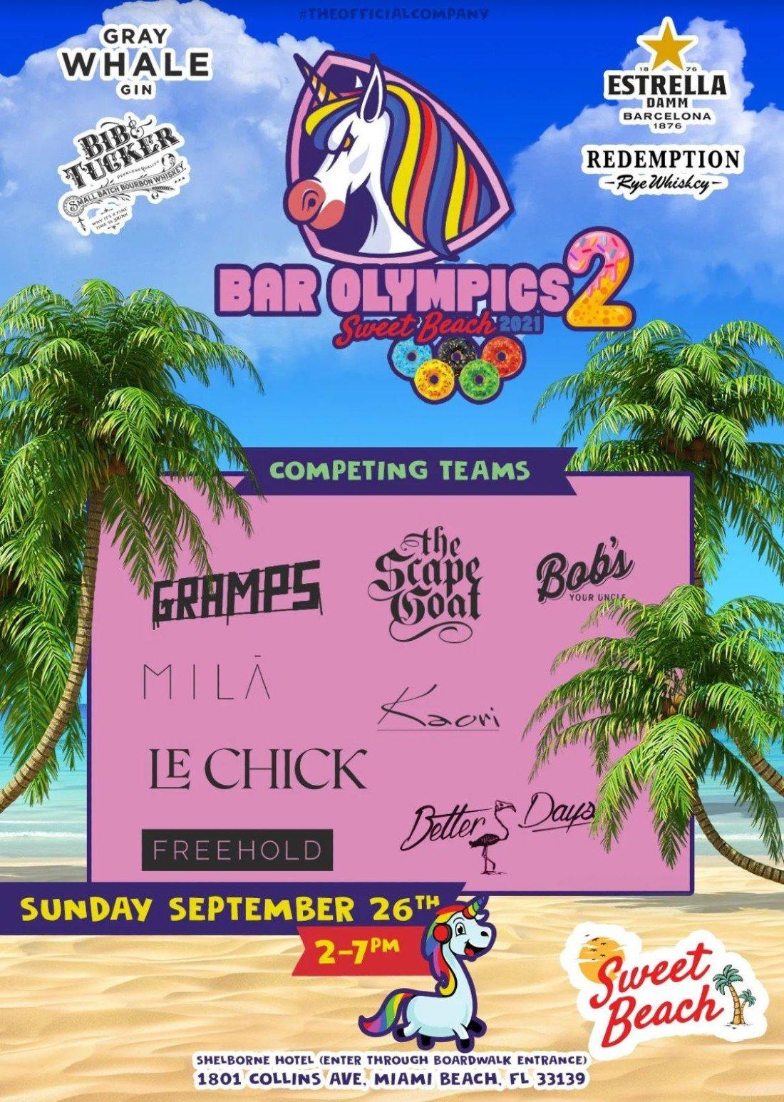 Sweet Beach\u2019s 2021 Bar Olympics