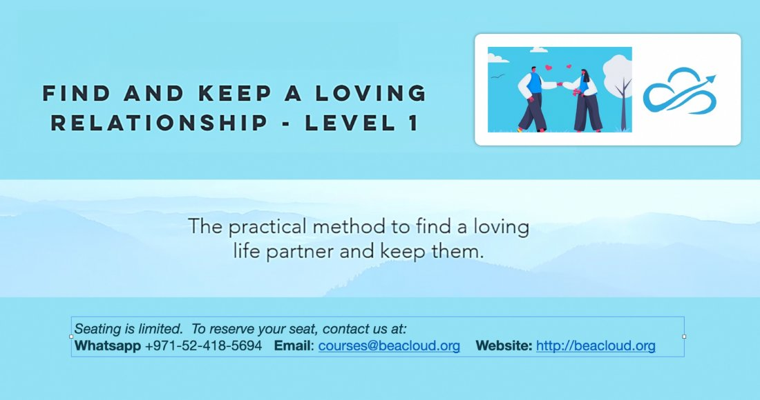 Find and keep a loving relationship